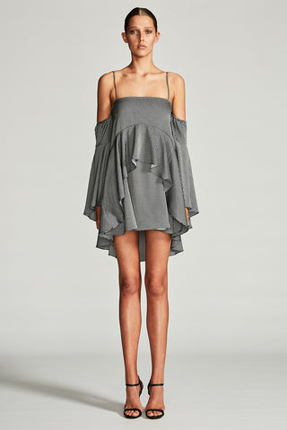MIRAGE LAYERED FRILL MINI DRESS