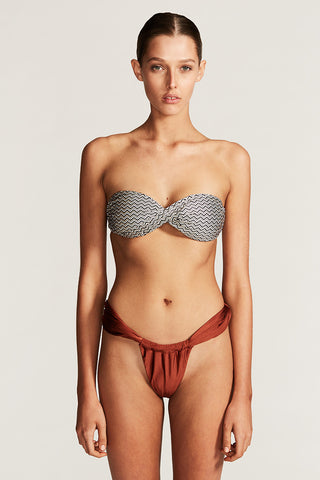 IPANEMA SUPER HIGH CUT TWIST BOTTOM - RUST