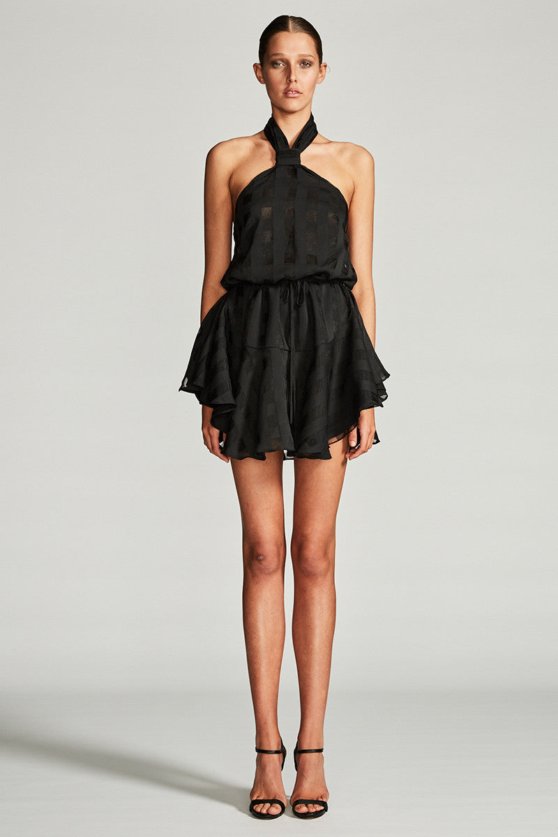 PERSEUS KNOT DRAWSTRING MINI DRESS