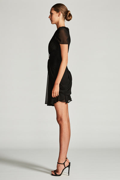 ORION DRAPED MINI DRESS WITH RING