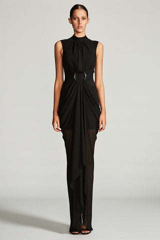 ORION DRAPED MAXI DRESS WITH RING