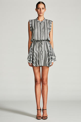 PHOENIX DRAWSTRING MINI SHIRT DRESS