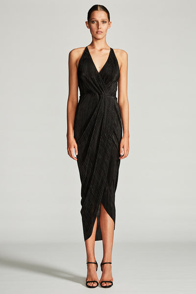 LYNX DRAPED CROSS OVER MAXI DRESS