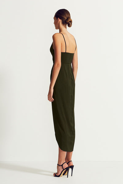 CORE COCKTAIL DRESS - DEEP OLIVE
