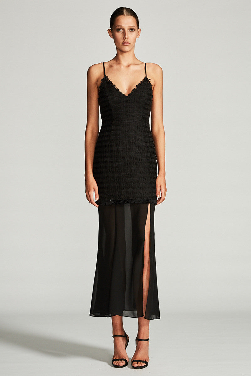 VENUS COCKTAIL MAXI DRESS - BLACK