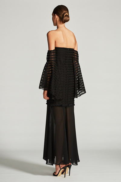 VENUS BUSTIER MAXI DRESS - BLACK