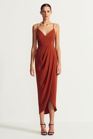 CORE COCKTAIL DRESS - RUST