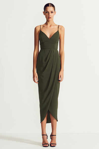 CORE COCKTAIL DRESS - KHAKI