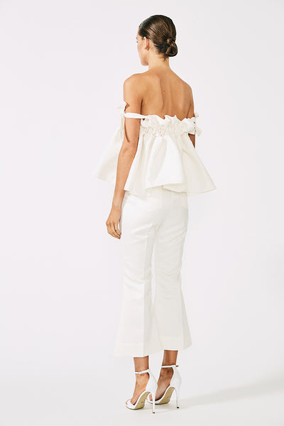 DIDIER CROPPED FLARES - CREAM