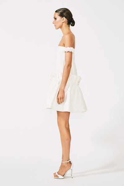 DIDIER OFF THE SHOULDER MINI DRESS - CREAM