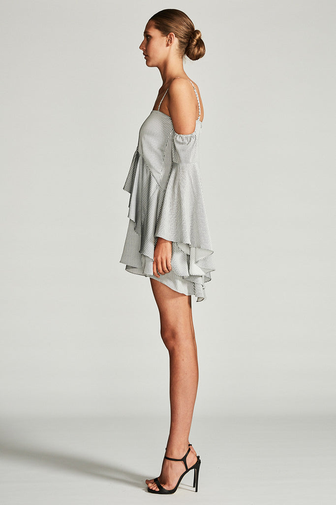 AURORA LAYERED FRILL MINI DRESS