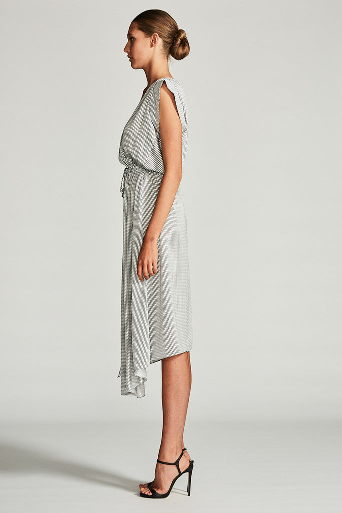 AURORA DRAWSTRING MIDI DRESS