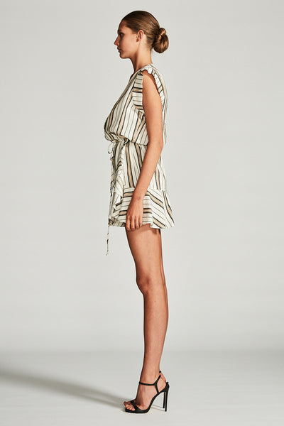 VOYAGE DRAWSTRING MINI DRESS