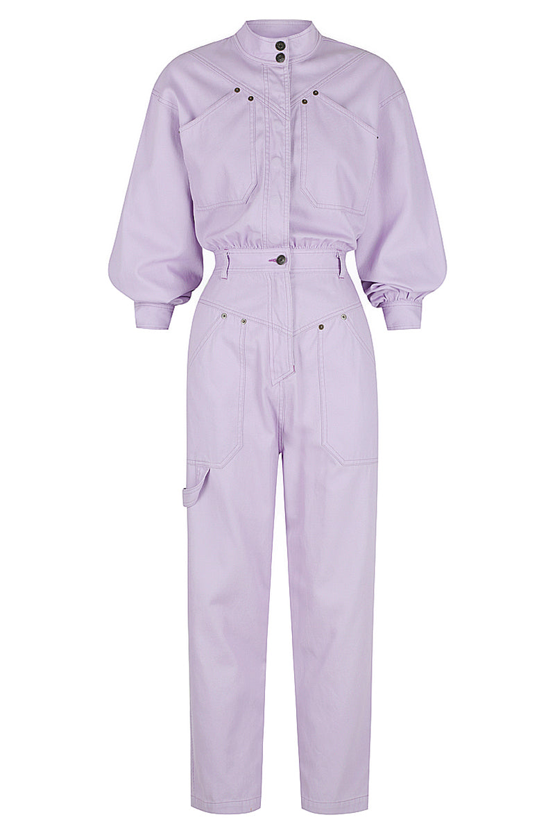 Shona Joy CHIARA LONG SLEEVE BOILER SUIT - LAVENDER