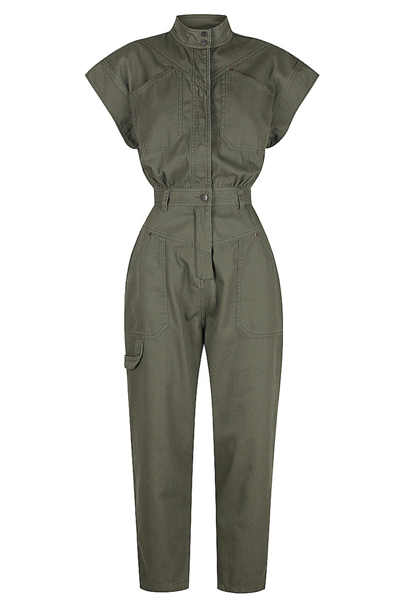 Shona Joy CHIARA SLEEVELESS BOILER SUIT - FOREST