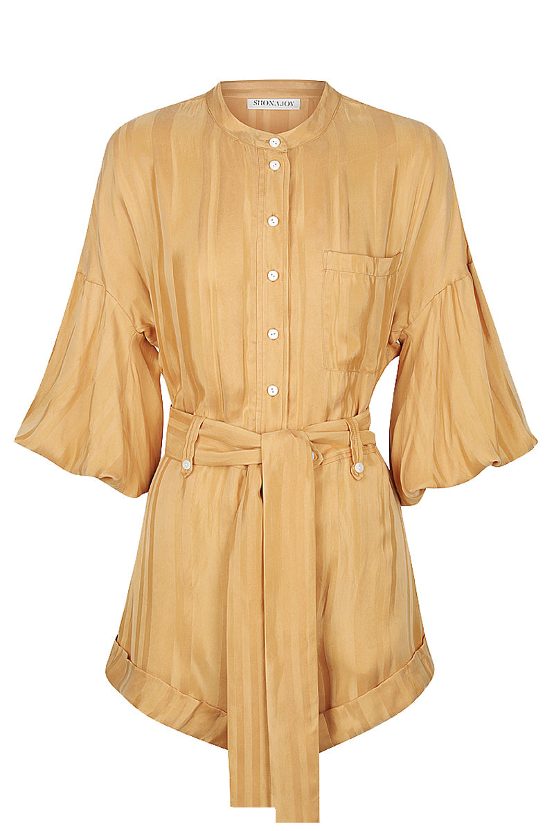 Shona Joy DAISY BALLOON SLEEVE BOILER SUIT