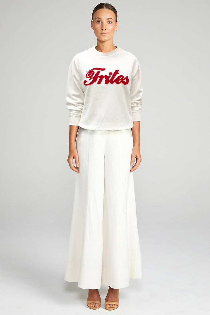 FRITES JUMPER - WHITE & RED
