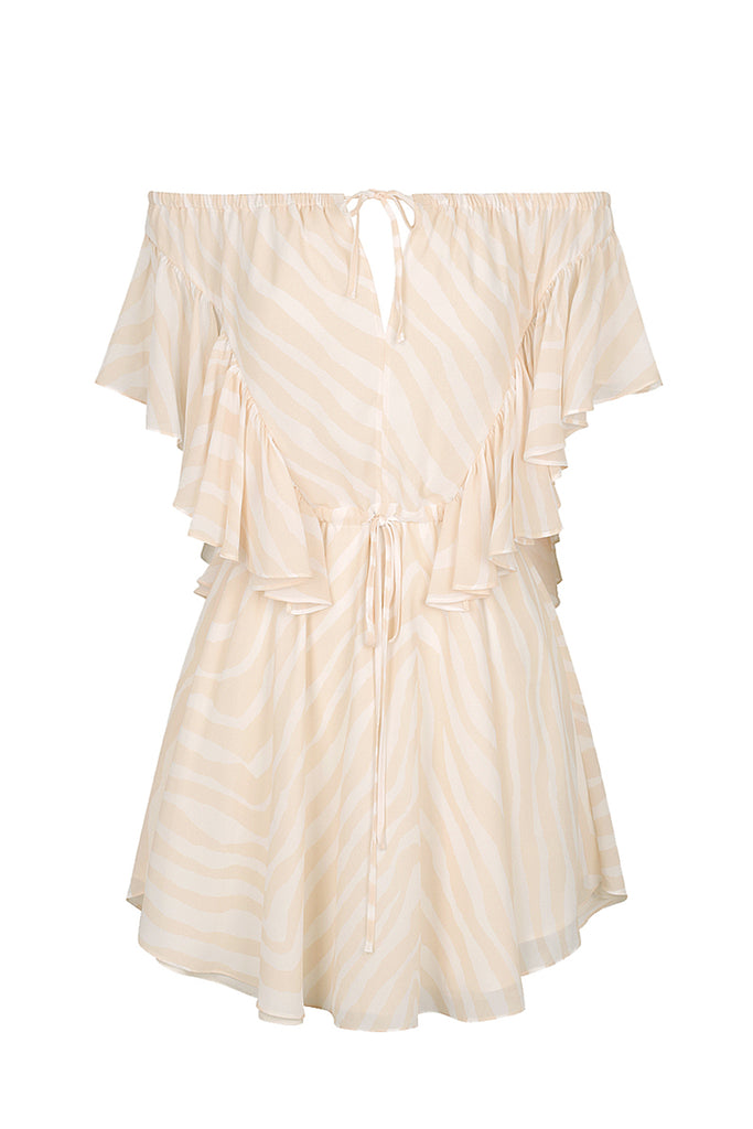 FABIANA RUFFLE MINI DRESS