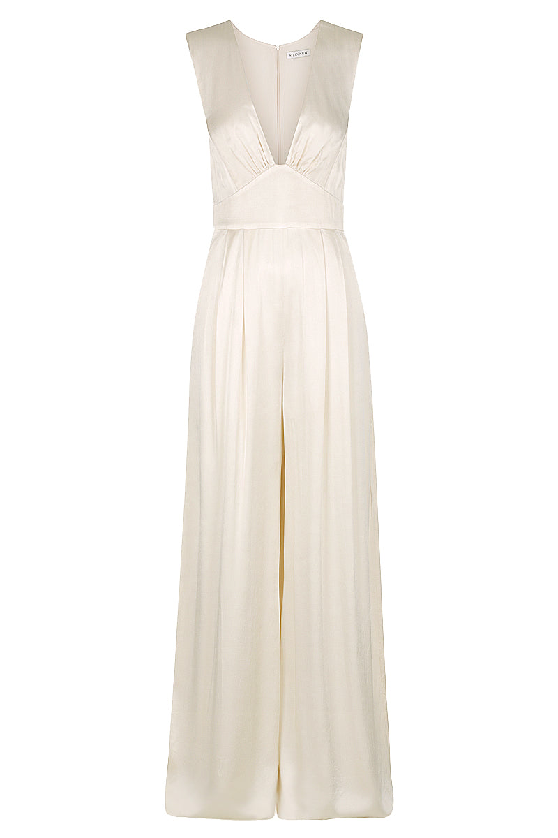 Shona Joy LA LUNE PLUNGED JUMPSUIT - CREAM