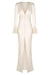 LA LUNE FRILL CUFF BIAS MIDI DRESS - CREAM