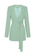 LAUTNER COLLARLESS BLAZER - SPEARMINT