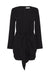 LAUTNER TIE FRONT FITTED MINI DRESS - BLACK