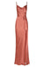 LA LUNE BIAS COWL MAXI DRESS - TERRACOTTA