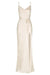 LA LUNE BIAS COWL MAXI DRESS - CREAM