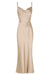 LA LUNE BIAS COWL MIDI DRESS - GOLD