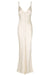 LA LUNE BIAS SLIP DRESS - CREAM