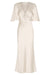 LA LUNE FLUTTER SLEEVE MIDI DRESS - CREAM