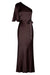 LA LUNE ONE SHOULDER BIAS MAXI DRESS - CHOCOLATE