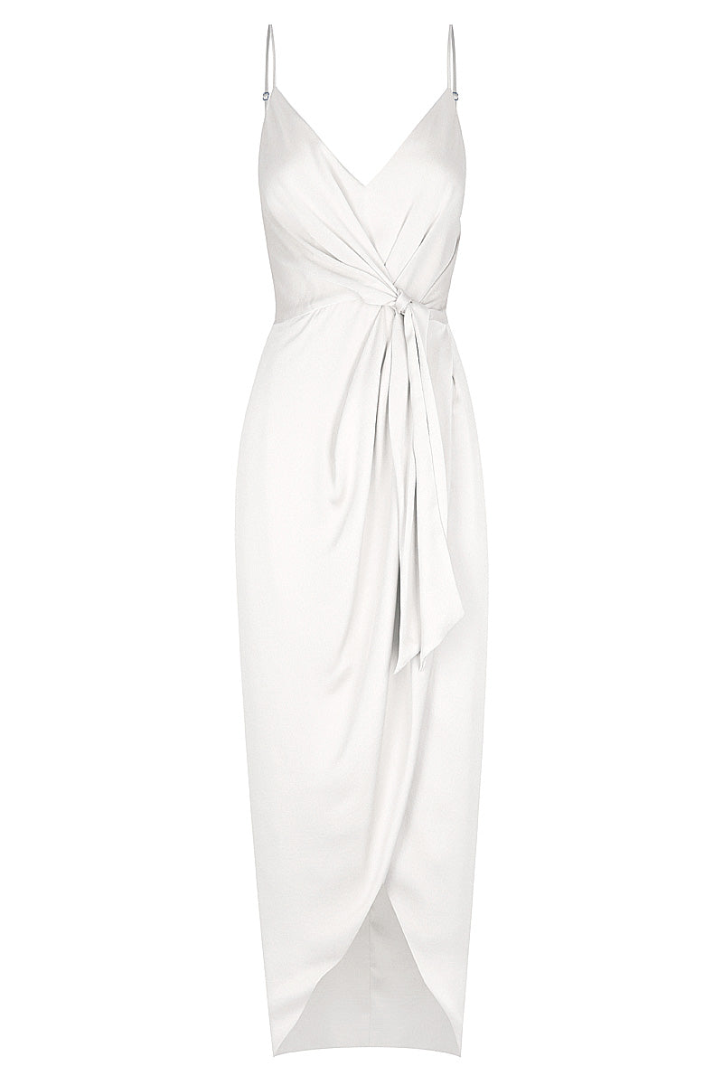 Shona Joy LUXE TIE FRONT COCKTAIL DRESS - IVORY