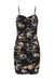 MONTEREY RUCHED FITTED MINI DRESS - BLACK/WHEAT