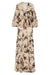 MONTEREY SHIRRED LACE UP MAXI DRESS - BONE/BLACK