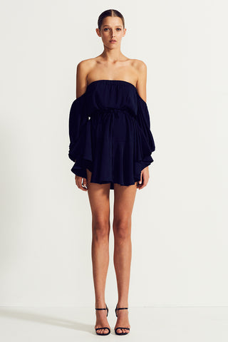 CORE OFF THE SHOULDER MINI DRESS - NAVY