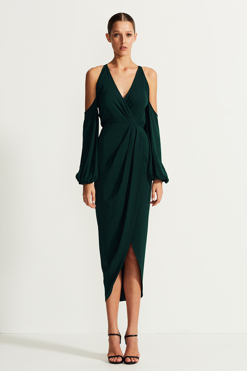 CORE OPEN SHOULDER MAXI - SEAWEED