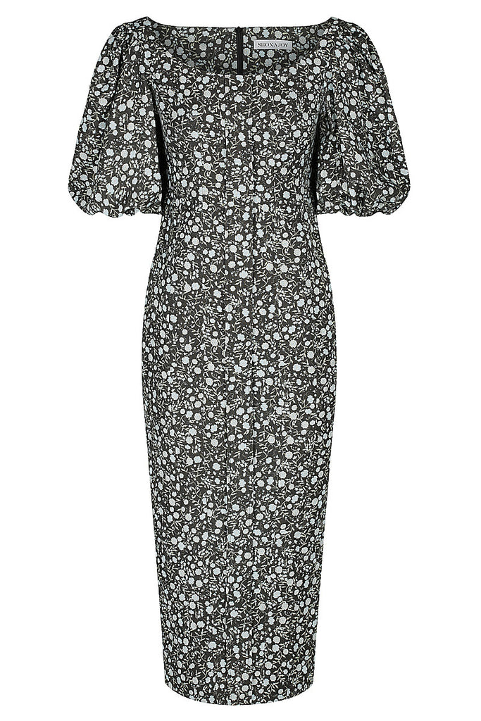 PARKER LINEN FITTED MIDI DRESS