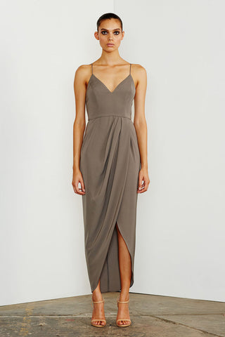 CORE COCKTAIL DRESS - OLIVE