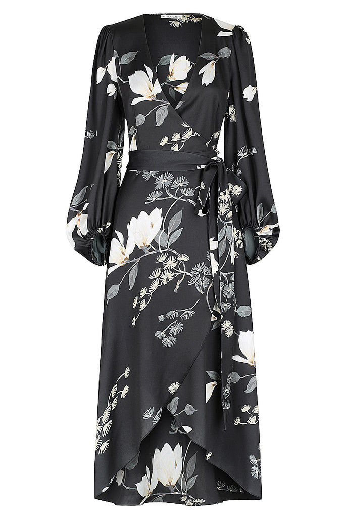RYLANT WRAP MIDI DRESS