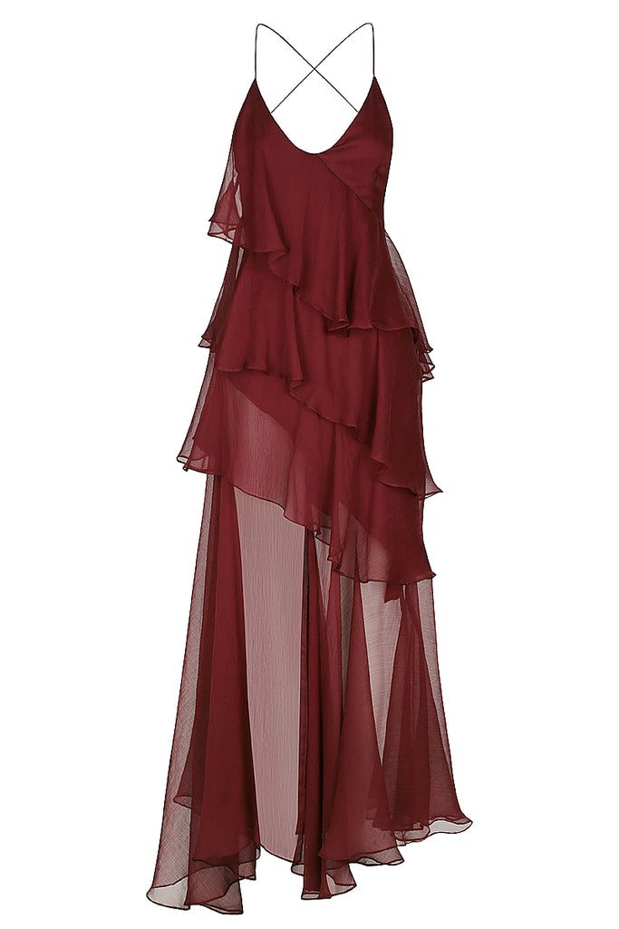 GABRIELA CROSS BACK MAXI DRESS