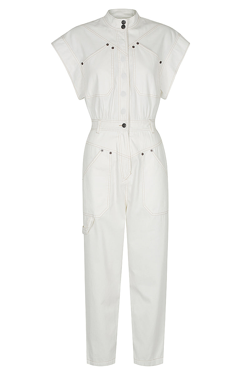 Shona Joy CHIARA SLEEVELESS BOILER SUIT - IVORY