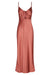 WRIGHT RUCHED BIAS SLIP DRESS - TERRACOTTA