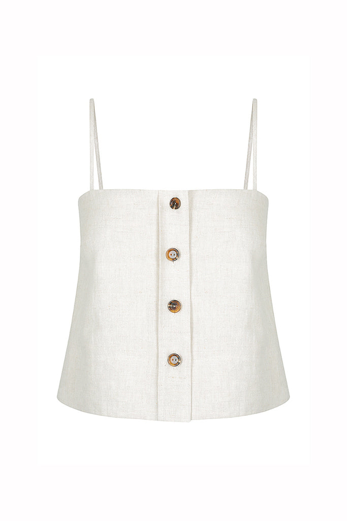 ST MARTIN LINEN CAMISOLE - NATURAL