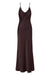 WRIGHT RUCHED BIAS SLIP DRESS - CHOCOLATE