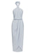 CORE KNOT DRAPED DRESS - POWDER BLUE