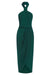 CORE KNOT DRAPED DRESS - SEAWEED