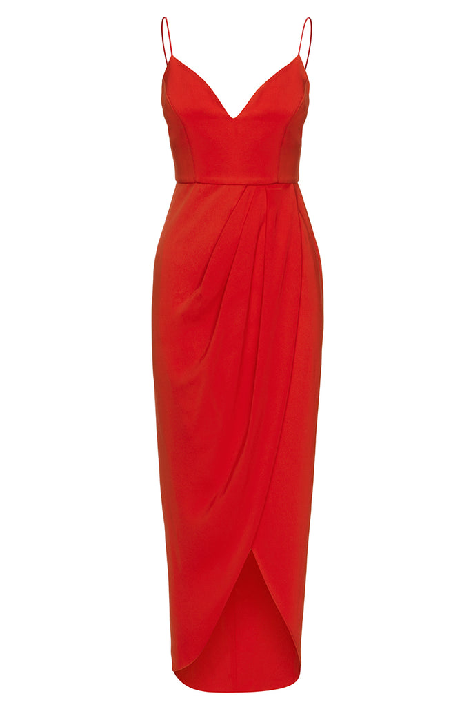 CORE COCKTAIL DRESS - TOMATO