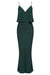 LUXE BIAS FRILL SLIP DRESS - EMERALD