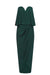 LUXE 'U' WIRE FRILL DRESS - EMERALD